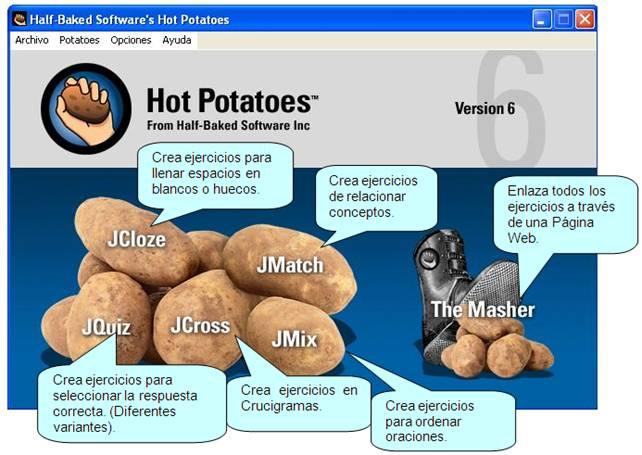 Hot Potatoes, una herramienta sencilla y eficaz