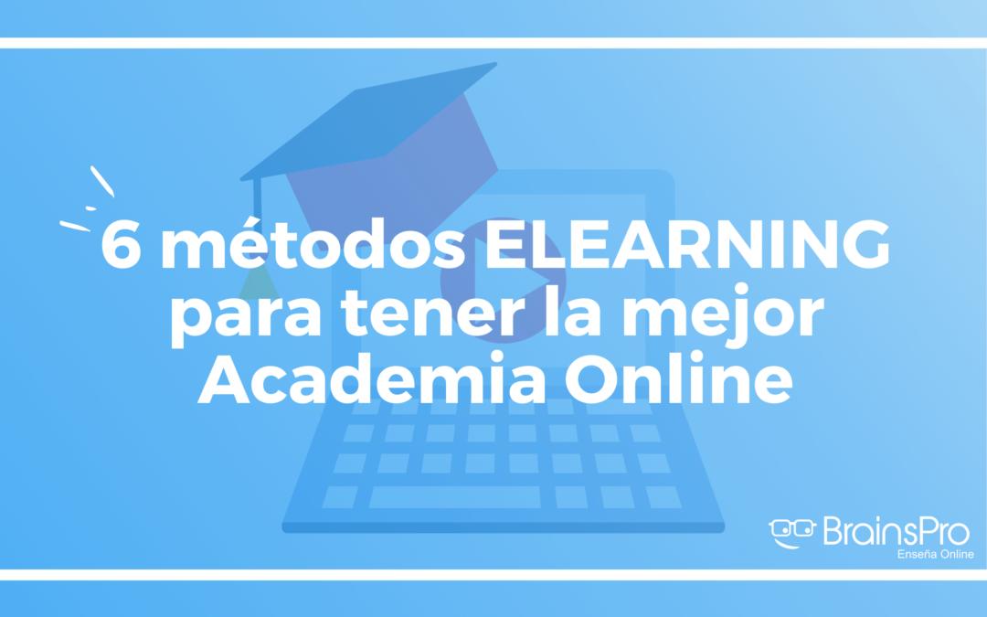 Métodos elearning para centro de formación online