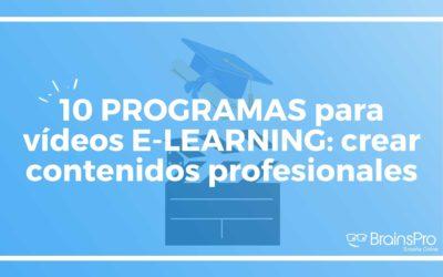 10 programas para vídeos elearning: crear contenidos profesionales